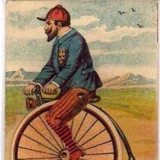 Postales: PUBLICIDAD DE PAPELERÍA DE SALVADOR CUESTA. MADRID. POSTAL CON MOVIMIENTO. BICICLETA.. Lote 197202775