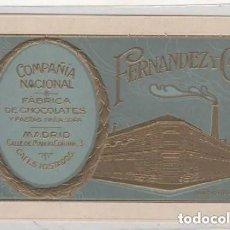 Postales: COMPAÑIA NACIONAL. FÁBRICA DE CHOCOLATES Y PASTAS PARA SOPA. CALLE MANUEL CORTINA. MADRID. FERNANDEZ. Lote 197207031