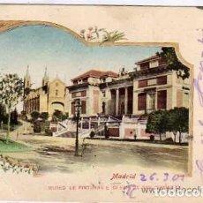 Postais: MADRID. MUSEO DE PINTURAS E IGLESIA DE SAN JERONIMO. Nº 4 FOTOTIPIA LACSOTE. CIRCULADA.. Lote 197219721
