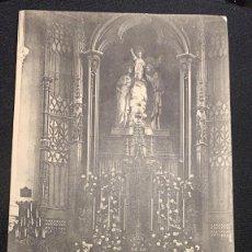 Postales: POSTAL INTERIOR CAPILLA PRINCIPAL COLEGIO NUESTRA SEÑORA DE LORETO PRÍNCIPE DE VERGARA MADRID S XX. Lote 197422895