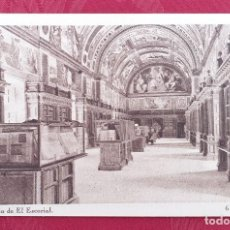 Postales: POSTAL ANTIGUA- MONASTERIO DE EL ESCORIAL- 6- BIBLIOTECA . Lote 198549405