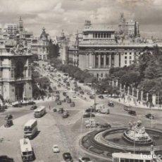 Postales: POSTAL MADRID - CIBELES Y CALLE ALCALA - 29 DOMINGUEZ. Lote 198562002