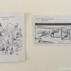 Postales: 2 POSTALES MADRID II JUEGOS UNIVERSITARIOS NACIONALES 1945... ZKR. Lote 198636702