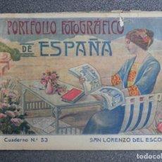 Postales: SAN LORENZO DEL ESCORIAL PORTFOLIO FOTOGRÁFICO DE ESPAÑA Nº 53. Lote 198679615