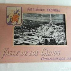 Postales: PATRIMONIO NACIONAL VALLE DE LOS CAIDOS CUELGAMUROS MADRID. BLOC CON 9 POSTALES. FOTO J. CEBOLLERO. Lote 198829797