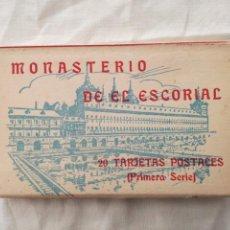 Postales: ACORDEON CON 20 POSTALES ANTIGUAS DEL MONASTERIO DEL ESCORIAL.. Lote 199494383