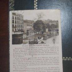 Postales: ANTIGUA POSTAL PUBLICIDAD CONGRESO NACIONAL DE TURISMO MADRID PLAZA PROGRESO AÑO 1932. Lote 199496555