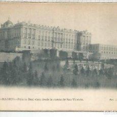Postales: MADRID PALACIO REAL DORSO SIN DIVIDIR. Lote 199502265