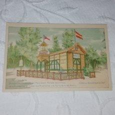 Postales: POSTAL DE 1907 PABELLÓN DELEGACIÓN ESPAÑOLA DEL PERMANENT EN LA EXPOSICIÓN DE INDUSTRIAS MADRILEÑAS.. Lote 199664416