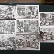 Postales: PALACIO DEL PARDO, MADRID LOTE DE 8 POSTALES. Lote 199831682