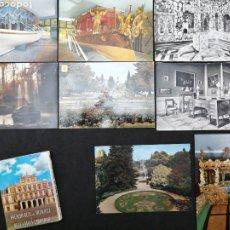 Postales: PALACIO DE ARANJUEZ, ARANJUEZ, LOTE DE 8 POSTALES Y LIBRO. Lote 199836390