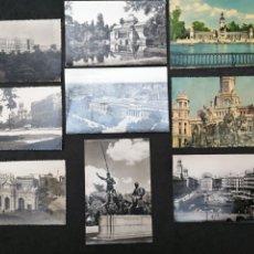 Postales: MADRID, LOTE DE 9 POSTALES INTERESANTES. Lote 199856265