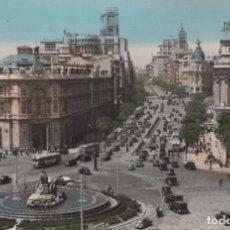 Cartes Postales: POSTAL MADRID - PANORAMICA DE LA PLAZA DE LA CIBELES Y CALLE DE ALCALA - 170 GARRABELLA - COLOREADA. Lote 200019242