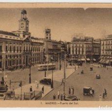 Postales: ESPAÑA MADRID PUERTA DEL SOL APROX. 1950 . Lote 200131442