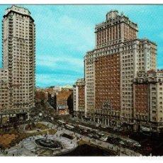 Postales: MADRID PLAZA DE ESPAÑA FUENTE DOMINGUEZ Nº 104 - NO CIRCULADA - . Lote 200291985