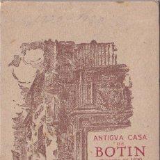 Postales: MADRID - CASA BOTIN - TACO DE 19 POSTALES. Lote 200305343