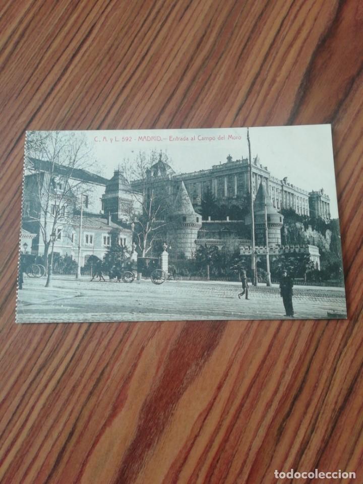 POSTAL MADRID. ENTRADA AL CAMPO DEL MORO. C, A Y L. SC (Postales - España - Comunidad de Madrid Antigua (hasta 1939))
