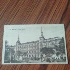 Postales: POSTAL MADRID. PLAZA MAYOR. MÁRGARA. SC. Lote 200359740