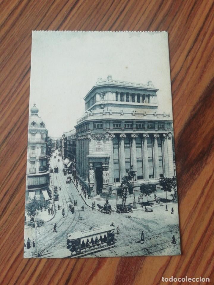 POSTAL MADRID. BANCO DE LA PLATA Y CALLÉ DEL BARQUILLO. GRAFOS MADRID. SC (Postales - España - Comunidad de Madrid Antigua (hasta 1939))