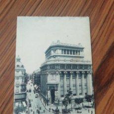 Postales: POSTAL MADRID. BANCO DE LA PLATA Y CALLÉ DEL BARQUILLO. GRAFOS MADRID. SC. Lote 200360408