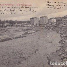 Postales: MADRID RIO MANZANARES. ED. CASTAÑEIRA ALVAREZ Y LEVENFELD Nº 624. CIRCULADA EN 1915. Lote 271411948