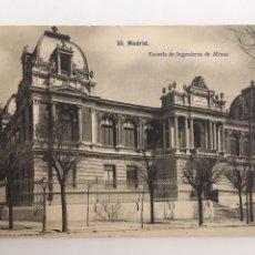 Postais: POSTAL MADRID - ESCUELA DE INGENIEROS DE MINAS. NUMERO 32. J. LACOSTE. Lote 202759106