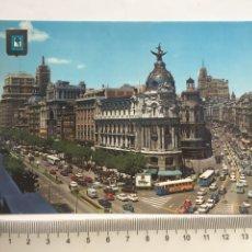 Cartoline: POSTAL. MADRID. CALLE ALCALÁ Y AVDA. JOSÉ ANTONIO. FISA.. Lote 203055480