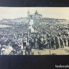 Postales: GETAFE MADRID CERRO DE LOS ANGELES MONUMENTO AL SAGRADO CORAZON INAUGURACION PROCESION. Lote 203797941