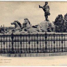 Postales: PRECIOSA POSTAL - MADRID - FUENTE DE NEPTUNO - HAUSER Y MENET. Lote 204412325