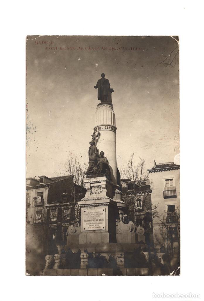 MADRID.- CÁNOVAS DEL CASTILLO. POSTAL FOTOGRÁFICA. (Postales - España - Comunidad de Madrid Antigua (hasta 1939))