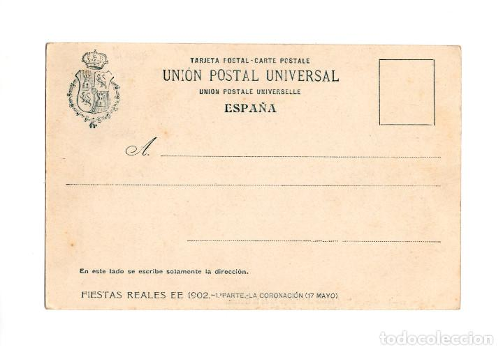 Postales: MADRID.- LA CARROZA REAL FRENTE AL MINISTRIO DE LA GUERRA. - Foto 2 - 204717941