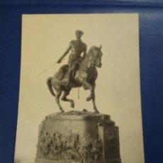 Postales: POSTAL FOTIGRAFICA ESCULTURA ECUESTRE REY ALFONSO XIII. KAULAK. MADRID. Lote 204765901