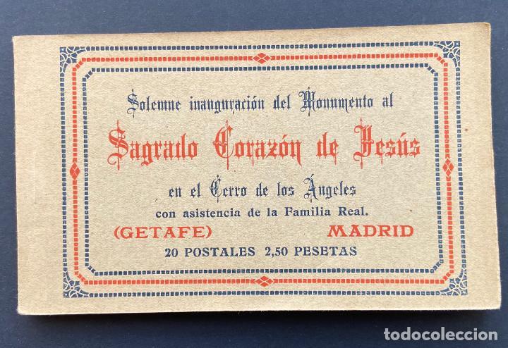 GETAFE.(MADRID).- BLOCK 20 POSTALES. SAGRADO CORAZÓN DE JESÚS. CERRO DE LOS ANGELES, ALFONSO XIII. (Postales - España - Comunidad de Madrid Antigua (hasta 1939))