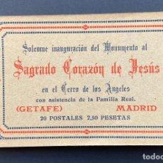Postales: GETAFE.(MADRID).- BLOCK 20 POSTALES. SAGRADO CORAZÓN DE JESÚS. CERRO DE LOS ANGELES, ALFONSO XIII.. Lote 204805303