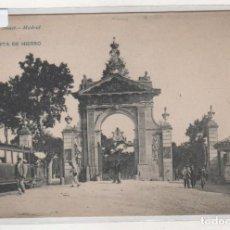 Postales: 1787 HAUSER Y MENET MADRID PUERTA DE HIERRO. TREN. REVERSO SIN DIVIDIR. SIN CIRCULAR.. Lote 205019626
