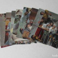 Postales: 9 POSTALES MADRID ERMITA DE S. ANTONIO DE LA FLORIDA - FRESCOS DE GOYA - GRAN TAMAÑO 22X16 CM.. Lote 205172556