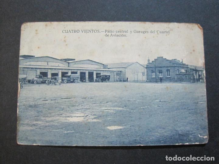 Postales: CUATRO VIENTOS-PATIO CENTRAL Y GARAJES DEL CUARTEL DE AVIACION-GRAFOS-POSTAL ANTIGUA-(70.538) - Foto 2 - 205326958
