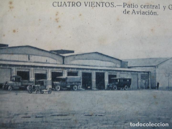 CUATRO VIENTOS-PATIO CENTRAL Y GARAJES DEL CUARTEL DE AVIACION-GRAFOS-POSTAL ANTIGUA-(70.538) (Postales - España - Comunidad de Madrid Antigua (hasta 1939))
