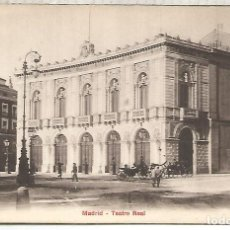 Postales: MADRID TEATRO REAL DORSO SIN DIVIDIR. Lote 205525725