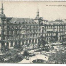 Postales: MADRID PLAZA MAYOR ESCRITA. Lote 205526526