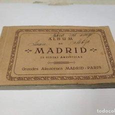 Postales: COMUNIDAD DE MADRID - ÁLBUM DE 25 POSTALES DE MADRID - GRANDES ALMACENES MADRID-PARIS. Lote 206336077