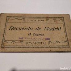 Postales: COMUNIDAD DE MADRID - BLOC DE 15 POSTALES MADRID - RECUERDO. Lote 206336266