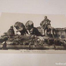 Postales: COMUNIDAD DE MADRID - POSTAL MADRID - FUENTE DE LA CIBELES. Lote 206904717