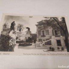 Postales: COMUNIDAD DE MADRID - POSTAL MADRID - FACHADA NORTE DEL MUSEO DEL PRADO Y ESTATUA DE GOYA. Lote 206904875