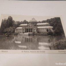 Postales: COMUNIDAD DE MADRID - POSTAL MADRID - EL RETIRO - PALACIO DE CRISTAL. Lote 206904975