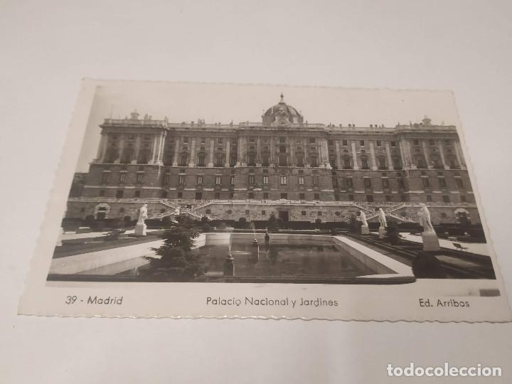 COMUNIDAD DE MADRID - POSTAL MADRID - PALACIO NACIONAL Y JARDINES (Postales - España - Madrid Moderna (desde 1940))