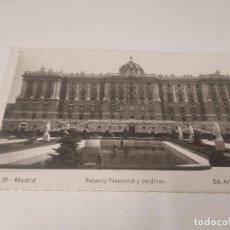 Postales: COMUNIDAD DE MADRID - POSTAL MADRID - PALACIO NACIONAL Y JARDINES. Lote 206905100