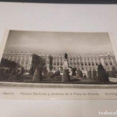 Postales: COMUNIDAD DE MADRID - POSTAL MADRID - PALACIO NACIONAL Y JARDINES DE LA PLAZA DE ORIENTE. Lote 206905317