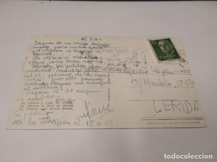 Postales: COMUNIDAD DE MADRID - POSTAL MADRID - LA CIBELES Y CALLE DE ALCALÁ - Foto 2 - 206906836