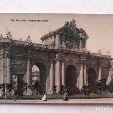 Postales: MADRID. POSTAL NO 232, ANIMADA.., PUERTA DE ALCALÁ. EDITA: UNIÓN POSTAL UNIVERSAL (A.1909). Lote 207206883